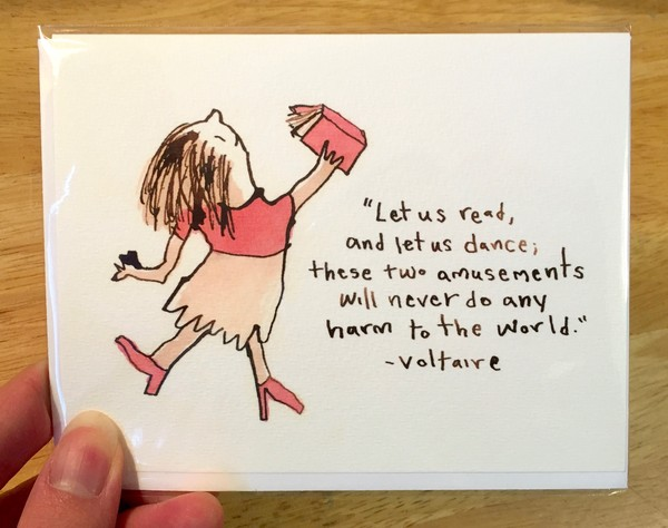 Read & Dance greeting card