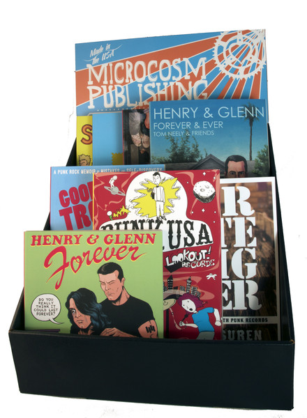 Record store book display box blowup