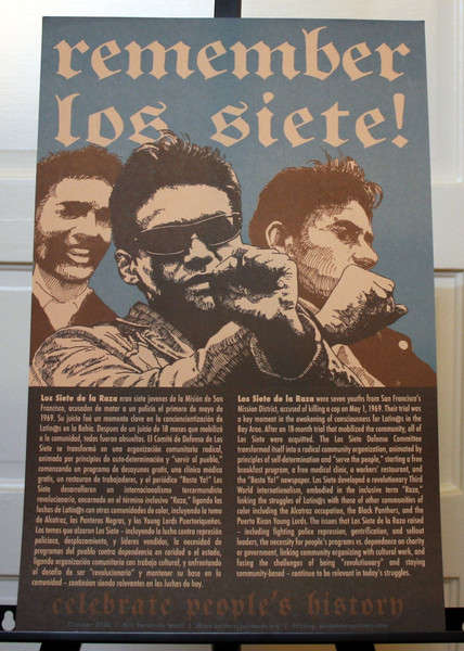Remember Los Siete de la Raza celebrate people's history justseeds art poster