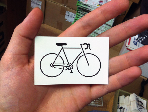 road bike vinyl sticker
