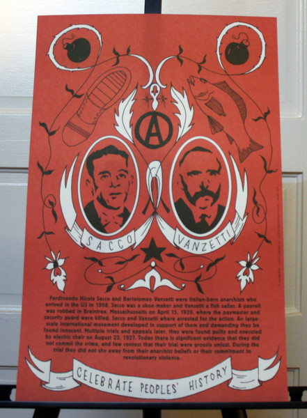Sacco and Vanzetti poster blowup