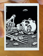 Sticker #108: Skeleton & Cars
