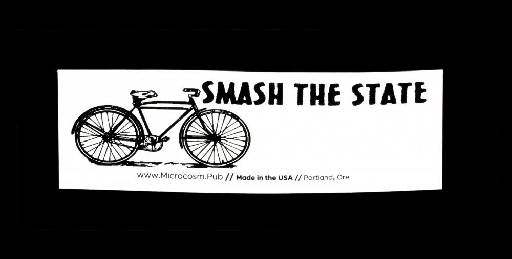 Sticker #459: Smash the State / bicycle