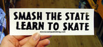 Sticker #276 Smash The State, Learn To Skate