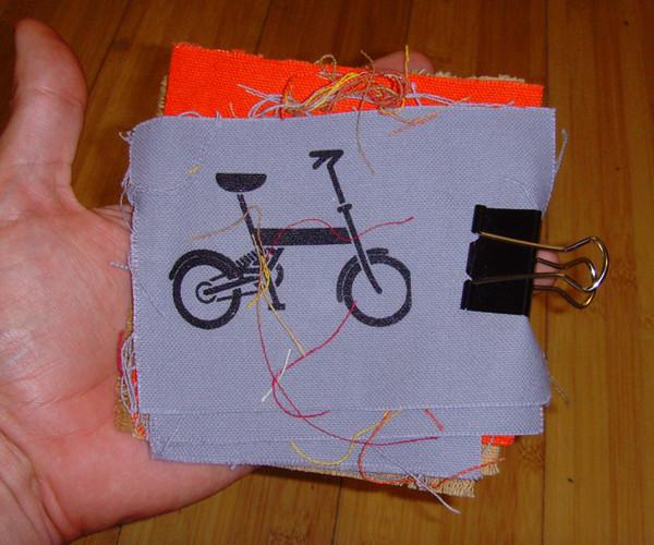 patch with image of folding bike