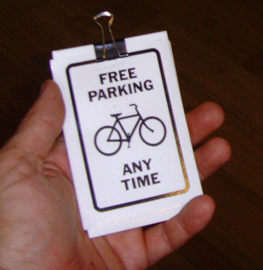free parking any time vinyl sticker