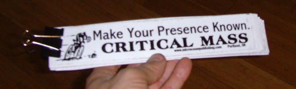 Sticker #001: Critical Mass