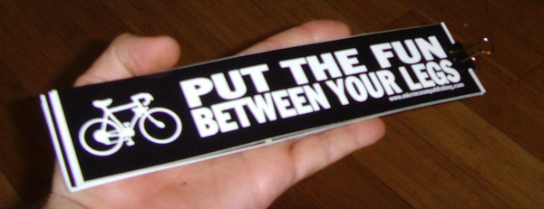 put the fun between your legs black vinyl sticker blowup
