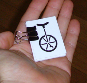unicycle vinyl sticker blowup