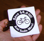 Sticker #288: Save $8,000 and smile more