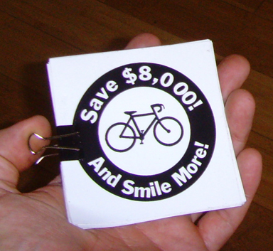 save $8,000 and smile more vinyl sticker