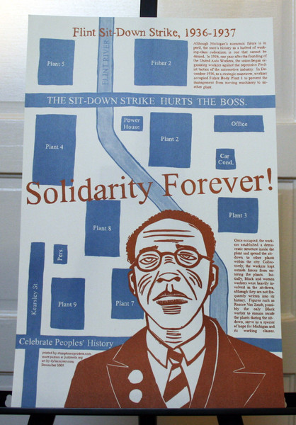 Solidarity Forever! Roscoe van Zandt and the Flint Michigan autoworkers Sit-down Strike poster