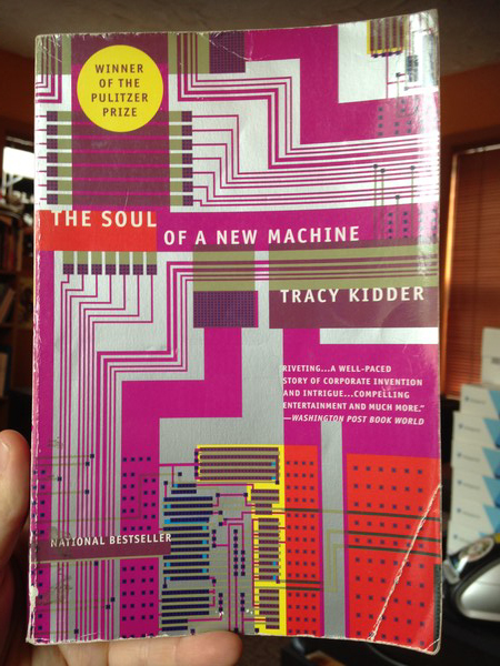 Hand holding copy of The Soul of a New Machine