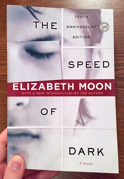 Speed of Dark by Elizabeth Moon [Half of a face]