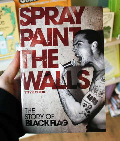 spray paint the walls book cover with henry rollins yelling