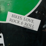 Sticker #341: Bikes, Love, Rock & Roll
