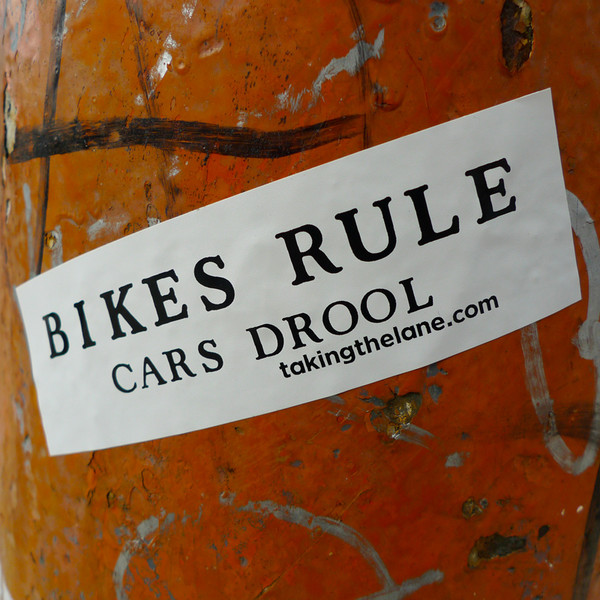 Sticker #342: Bikes Rule, Cars Drool