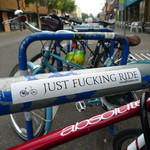 Sticker #349: Just Fucking Ride