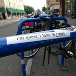 Sticker #340: I'm Queer, I Bike, and I Vote