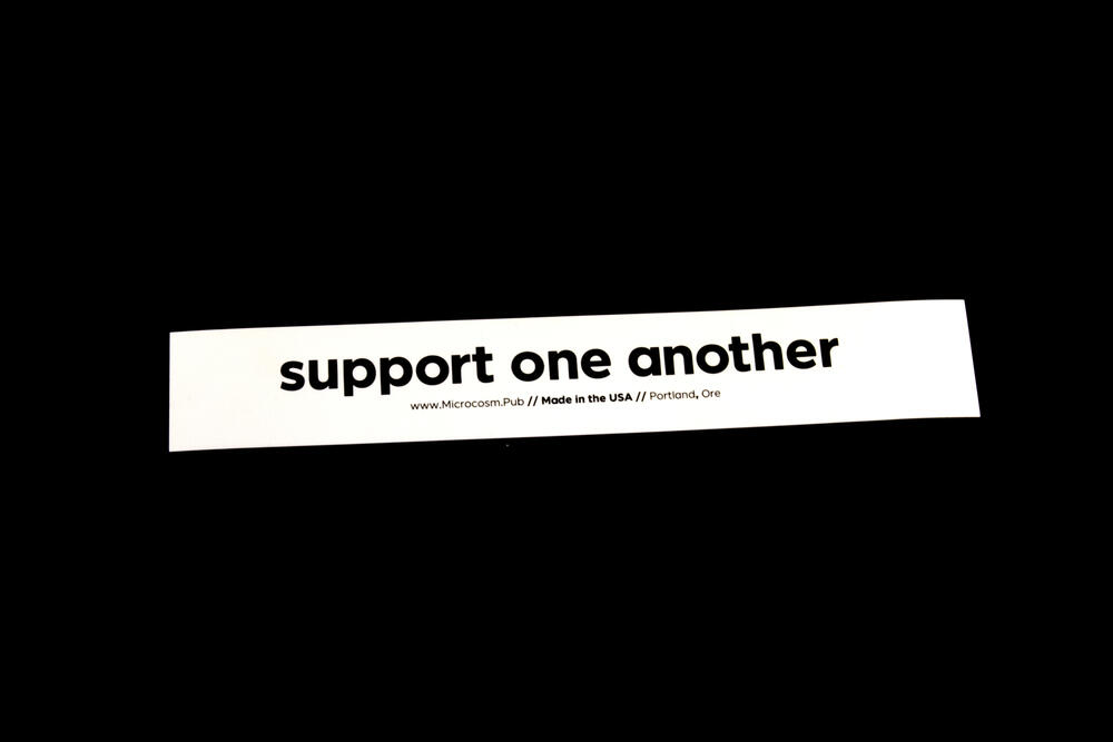 Sticker #428: support one another