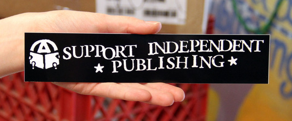 support independent publishing vinyl sticker