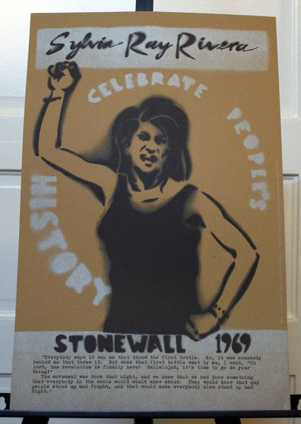 Sylvia Ray Rivera poster blowup