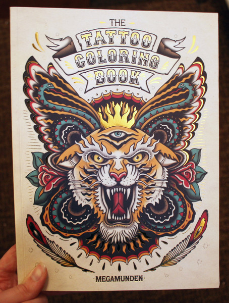 Tattoo Coloring Book by Megamunden