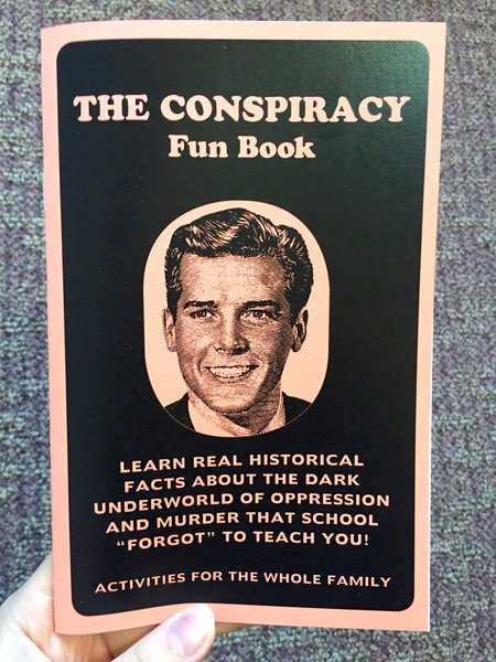 The Conspiracy Fun Book zine blowup
