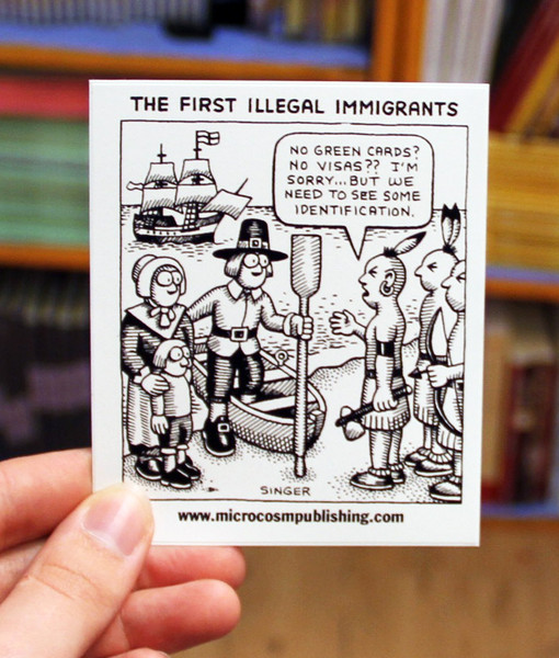 Sticker 165 First Illegal Immigrants