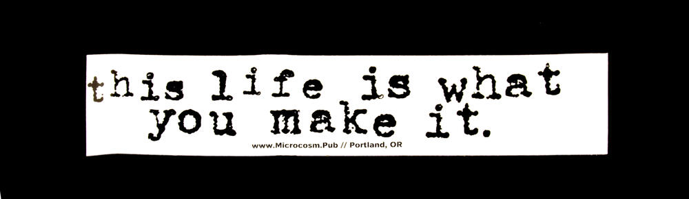 Sticker #258: This Life Is What You Make It