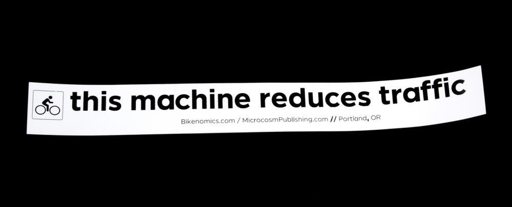 Sticker #393: this machine reduces traffic