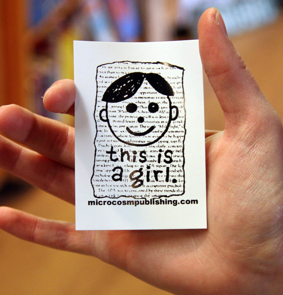 this is a girl vinyl sticker