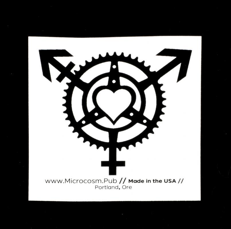 Sticker #457: Trans Chainring Heart