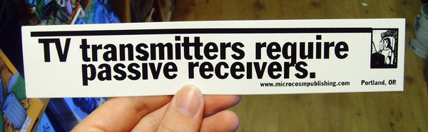 Sticker #066: TV Transmitters Require Passive Receivers