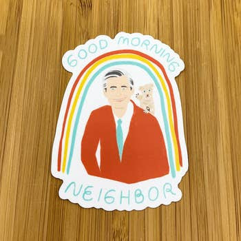 Mr. Rogers Sticker blowup