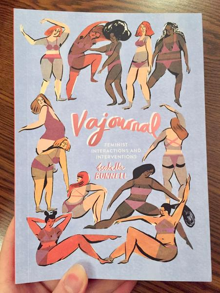 cover of Vajournal: Feminist Interactions and Interventions [An array of  women frolic in rectangular revelry.]