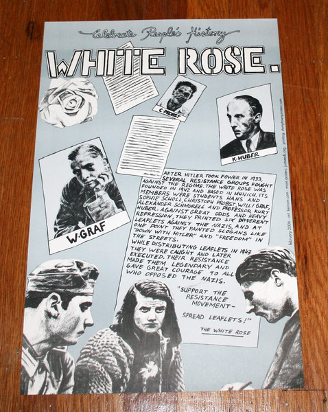 White Rose anti-nazi underground movement poster blowup