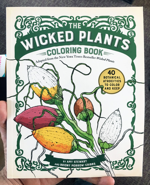 wicked plants coloring book cover