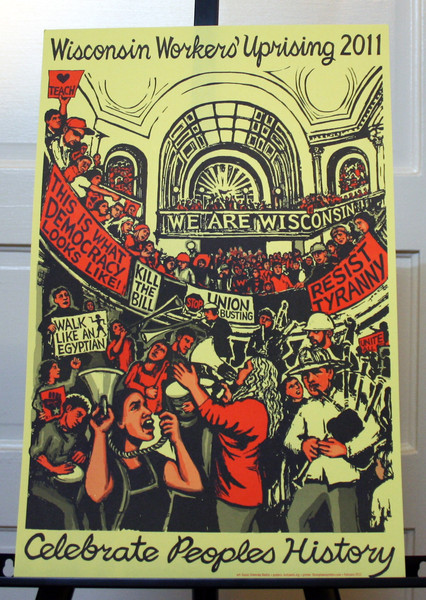 Wisconsin Workers Uprising 2011 commemorative poster