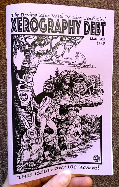 xerography debt #39 cover full of monsters