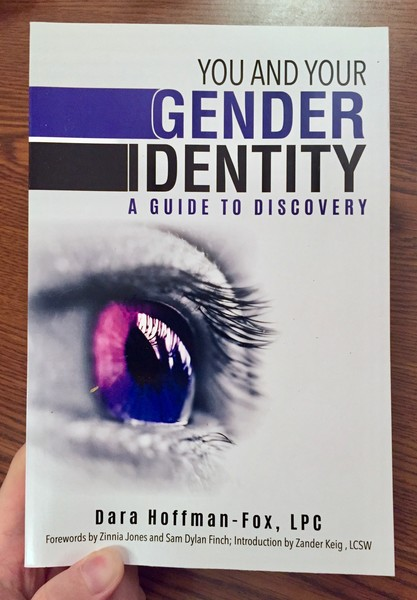 You and Your Gender Identity: A Guide to Discovery by Dara Hoffman-Fox [A purple/pink eye]