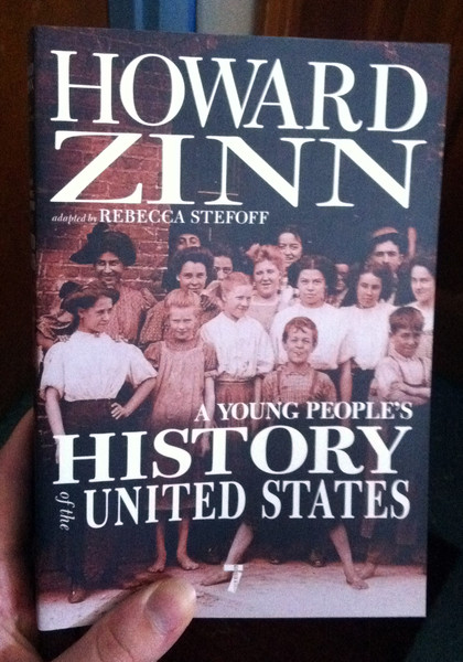 a young people's history of the united states by howard zinn and rebecca stefoff